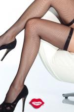 Bas résille Slim - Bas résille très élégants avec leur jarretière fine et élastique qui ceinture vos cuisses.