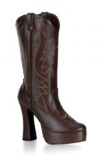 Bottes Cow-girl Electra - Bottes compensées style western, talons de 12 cm.