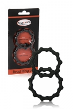 Set 2 cockrings  Bead Ring - Malesation - jeu de 2 cockring avec relief perlé pour plus de sensations tout en sublimant l'érection.