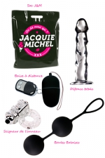 Pack sextoys Merci Qui - Le pack de 4 sextoys de la collection Jacquie et Michel à prix promotionnel.