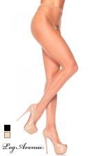 Collants ouverts Basic - Collants voile avec ouverture intime à l'entre-jambes.