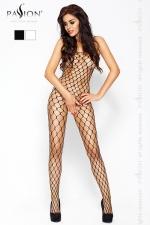 Combinaison filet Passion - Combinaison filet à larges mailles, avec ouverture intime à l'entre-jambes.