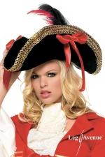 Chapeau de Pirate Gold - Chapeau de Pirate pour compléter votre costume.