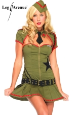 Costume Pin Up US Army - Costume militaire Pin Up, les belles d'armes de l'Oncle Sam.