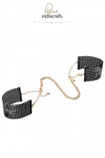 Menottes désir métallique noires - Des bracelets originaux en métal noir qui se transforment en menottes dans l'intimité.