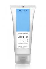Mix Gliss Nature 70 ml - Une valeur sûre pour ce lubrifiant nature à base d'eau à l'excellent rapport qualité/prix ! format voyage 70 ml.
