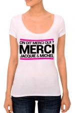 T-shirt J&M Femme n°3 - J&M pensent aussi (et surtout) aux femmes avec un nouveau tee-shirt spécifique mettant mieux en valeur leurs charmes.