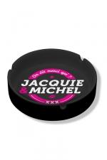 Cendrier Jacquie & Michel - Cendrier noir en céramique Jacquie & Michel.