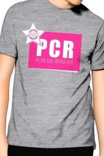 Tee-Shirt J&M PCR - gris -  PCR  pour  Plan cul régulier , un T-shirt de la collection officielle Jacquie & Michel, coloris gris.