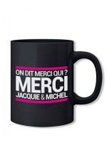 Mug noir Jacquie et Michel - Le mug officiel du site Jacquie et Michel, modèle noir.