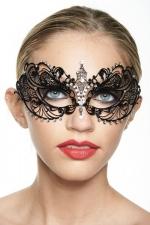 Masque vénitien Spirit 1 - Masque vénitien en métal incrusté de strass, optez pour une touche de mystère.