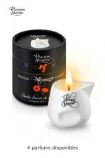 Bougie de massage Aroma - Bougie de massage sensuelle aux arômes de plantes, avec 4 délicieux parfums, par Plaisirs Secrets.