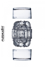 Masturbateur Fleshlight Quickshot vantage - Le nouveau plus petit masturbateur Fleshlight (en version transparente): l'enfiler c'est l'adopter!
