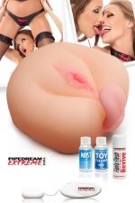 Masturbateur 1 on the cock and 1 on the balls - Baisez la première pendant que la seconde vous lèche les testicules...
