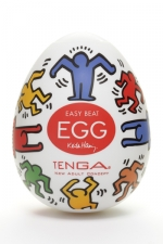 Tenga Egg dance - Keith Haring - Masturbateur Tenga EGG Dance, un sextoy collector avec design et texture exclusive.