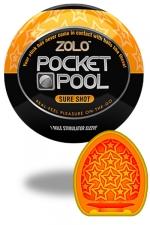 Zolo Sure Shot - Masturbateur de poche Pocket Pool ™ Sure Shot de marque Zolo, avec texture en étoiles.