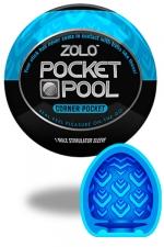 Zolo Corner Pocket - Masturbateur de poche Pocket Pool ™  Corner Pocket de marque Zolo, avec texture formée de nervures successives.