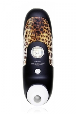 Stimulateur de Clitoris Womanizer Black - Le stimulateur clitoridien ultime Womanizer W100 coloris noir et panthère.
