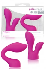 Palm Sensual Massager Heads - Pack 2 embouts coquins dédiés au Palm Power Massager.