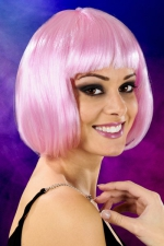 Perruque cheveux courts rose - Perruque fantaisie avec cheveux courts couleur rose, marque Cabaret Wigs.