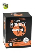 Assortiment 100 Préservatifs Crazy Monkey - Crazy Monkey présente sa crazy collection avec un assortiment de 100 préservatifs pour satisfaire toutes vos envies.