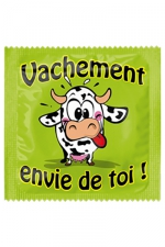 Préservatif humour - Vachement Envie De Toi - Préservatif  Vachement Envie De Toi , un préservatif personnalisé humoristique de qualité, fabriqué en France, marque Callvin.