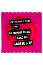 Préservatif humour - Un Homme Riche Avec... - Préservatif  Un Homme Riche Avec... ,  un préservatif personnalisé humoristique de qualité, fabriqué en France, marque Callvin.