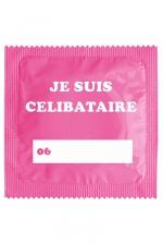 Préservatif humour - Je Suis Célibataire Rose - Préservatif  Je Suis Célibataire Rose , un préservatif personnalisé humoristique de qualité, fabriqué en France, marque Callvin.