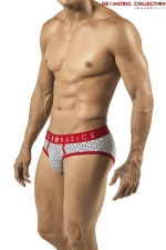 Slip Byblos - Malebasics - Slip en coton extensible imprimé d'un motif géométrique chic et masculin.